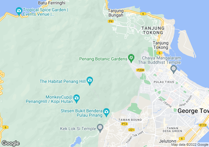 Map for Pinang, George Town