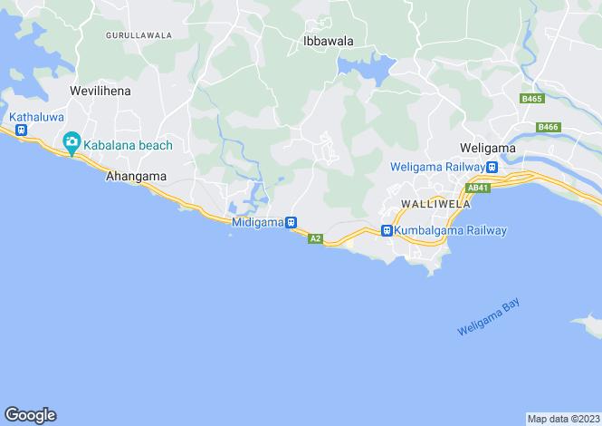 Map for Matara, South