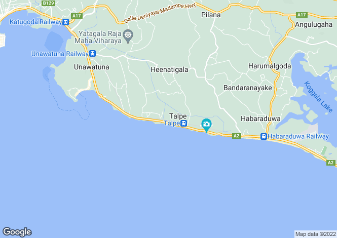 Map for Galle, South