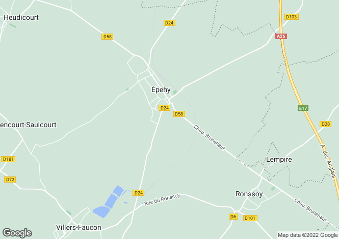 Map for epehy, Somme, France