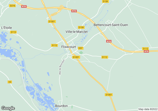 Map for flixecourt, Somme, France