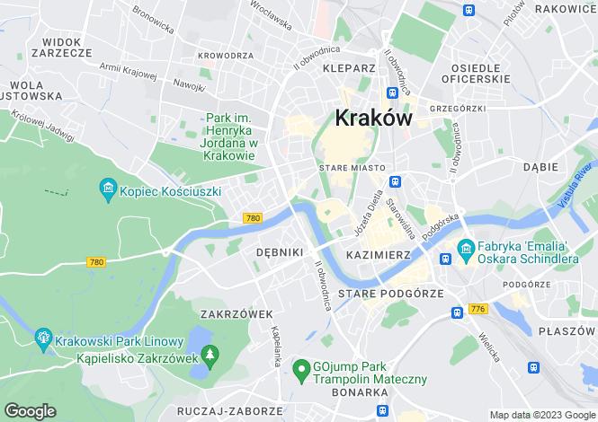 Map for Lesser Poland, Kraków