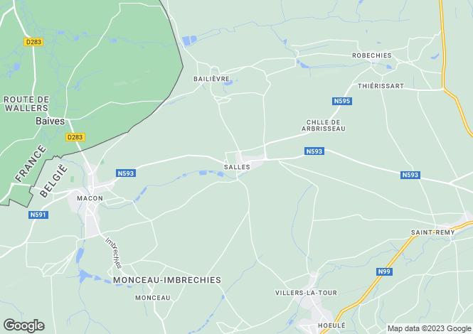 Map for Belgium