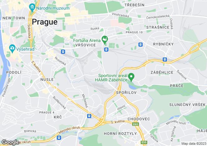 Map for Prague, Prague