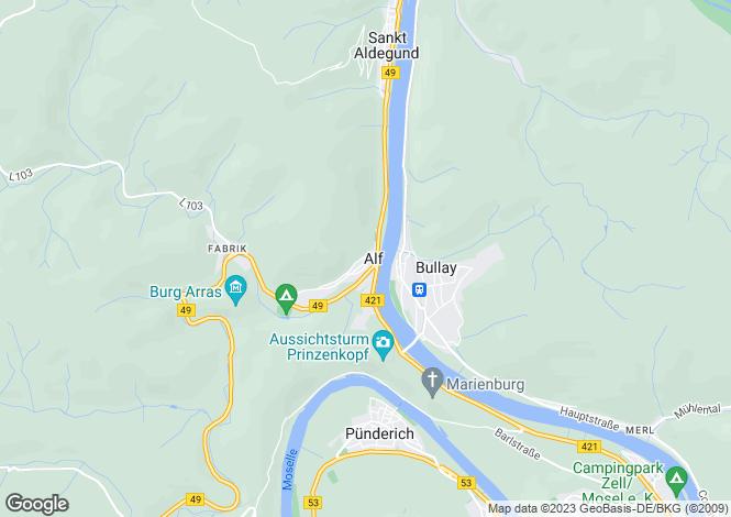 Map for Rhineland-Palatinate, Alf