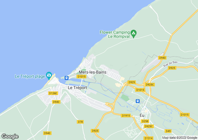 Map for Picardy, Somme, Mers-les-Bains