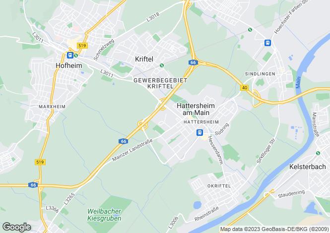 Map for Goethestrasse, Hattersheim Am Main, Hessen, 65795, Germany