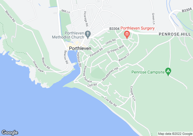 Map for St Peters Way, Porthleven, Helston, Cornwall