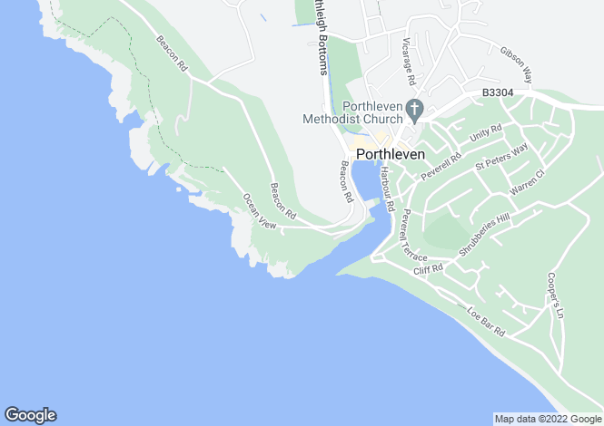 Map for Porthleven, South Cornwall