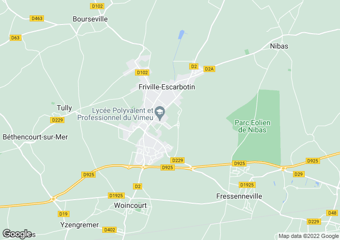 Map for friville-escarbotin, Somme, France