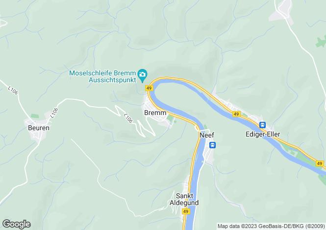Map for Rhineland-Palatinate, Bremm