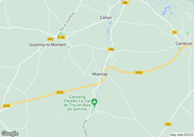 Map for Picardy, Somme, Miannay