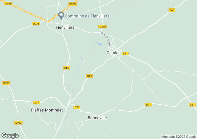 Map for Picardy, Somme, Candas