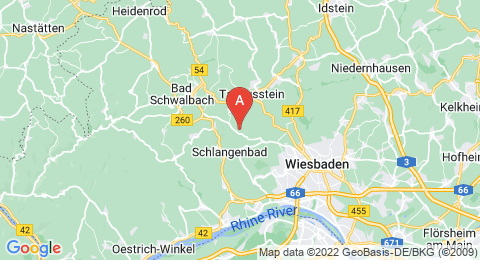 map of Hohe Wurzel (Germany)