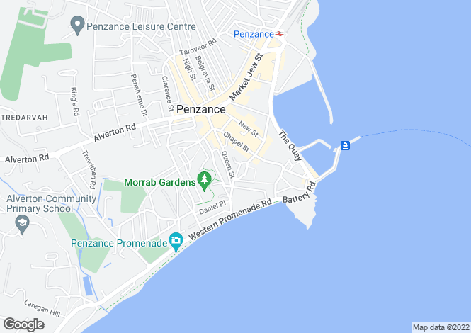Map for L1071y, PENZANCE