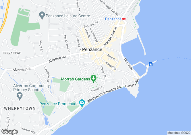 Map for 3 St Marys Place, Penzance, Cornwall TR18 4EE