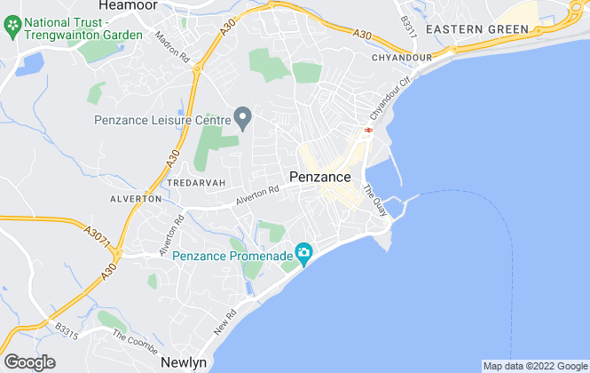 Map for Stacey Mann Estates, Penzance