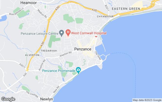Map for PRH, Penzance