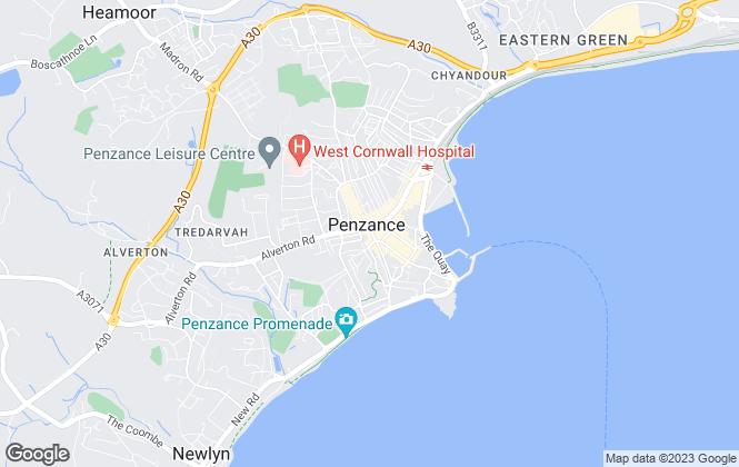 Map for Bradleys, Penzance