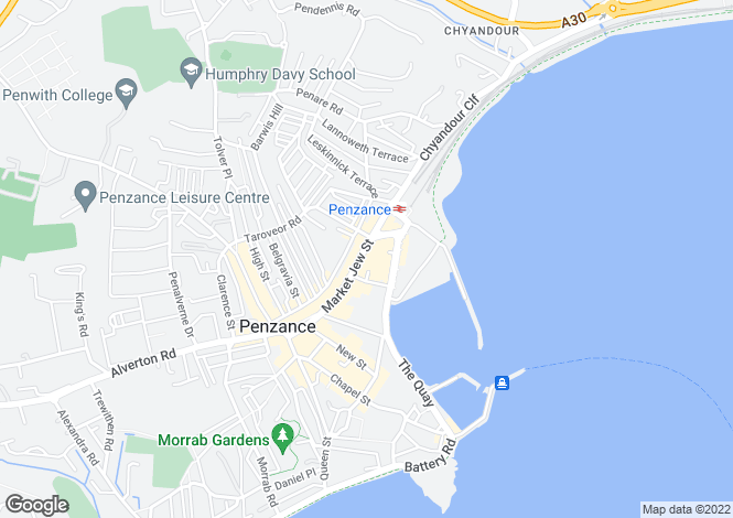 Map for Green Bean Coffee Co., 83 Market Jew Street, Penzance, Cornwall