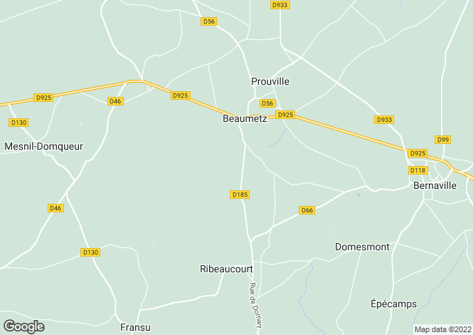 Map for beaumetz, Somme, France