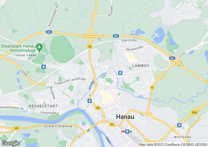 Map for Hanau, Hessen, 63452, Germany