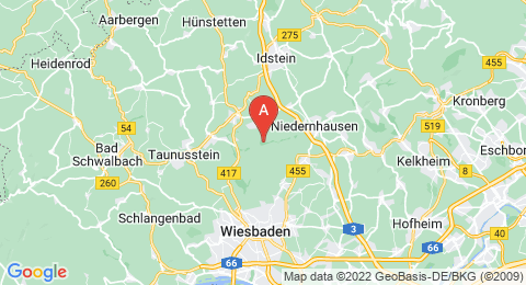 map of Rassel (Germany)