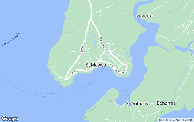 Map for Philip Martin, St Mawes