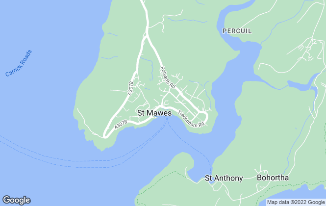 Map for H Tiddy, St Mawes, Truro