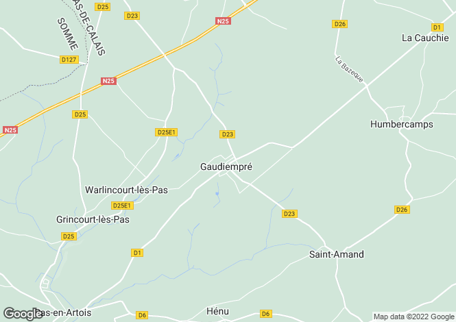 Map for gaudiempre, Pas-de-Calais, France