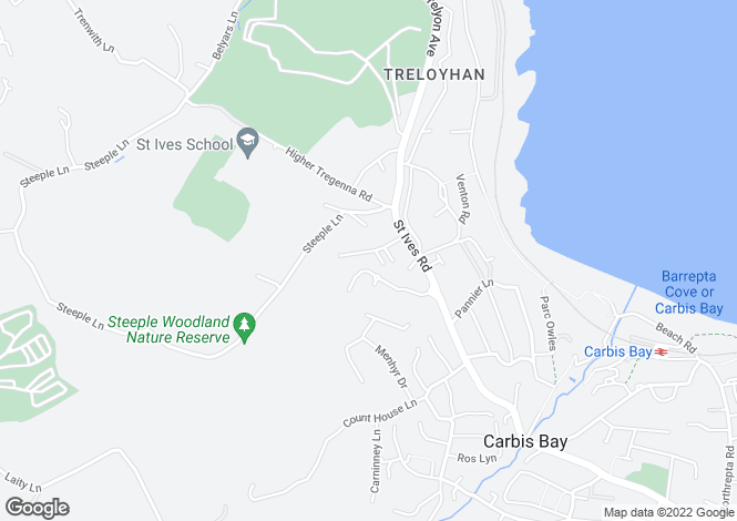 Map for Wheal Venture Road, St Ives, Cornwall