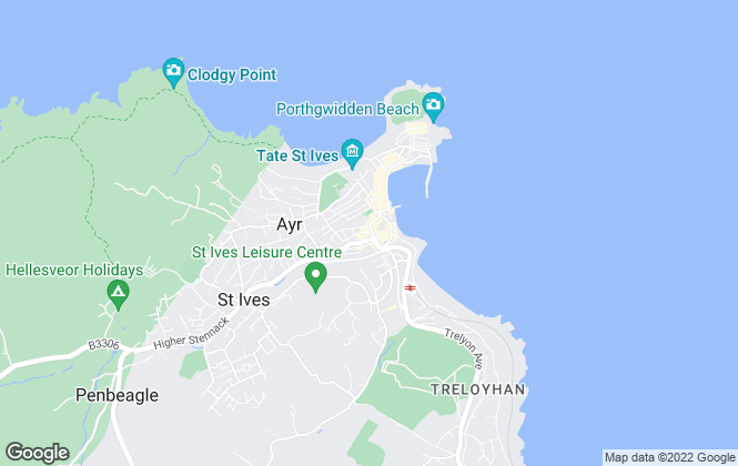 Map for Miller Countrywide, St Ives