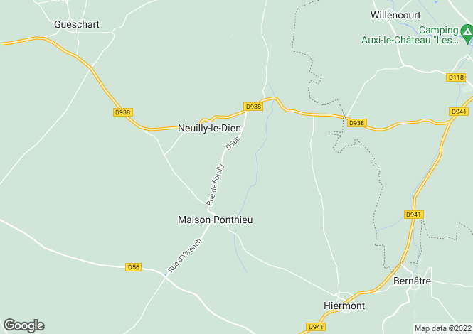 Map for neuilly-le-dien, Somme, France
