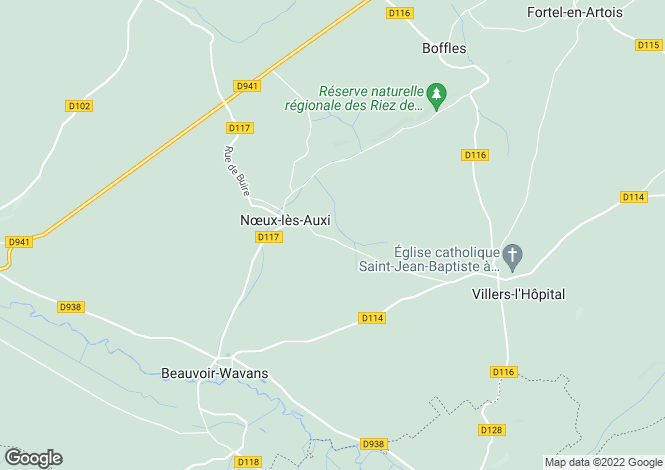 Map for noeux-les-auxi, Pas-de-Calais, France