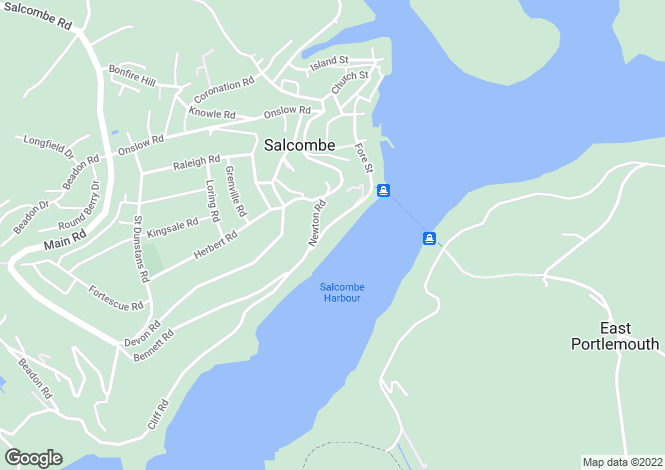 Map for Salcombe Town