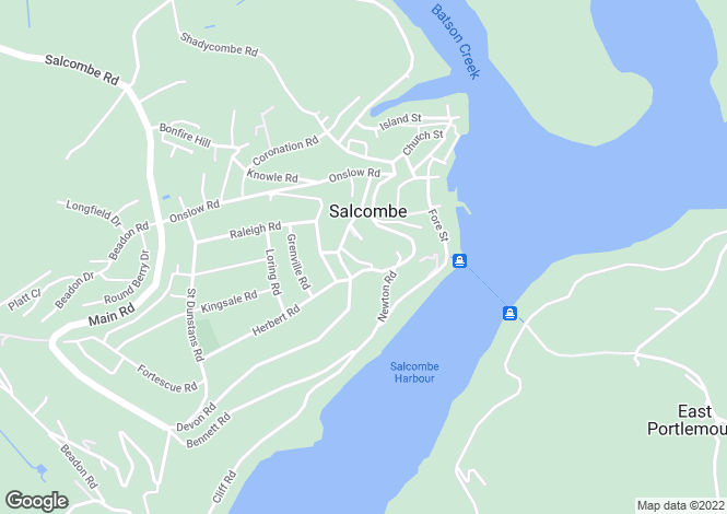 Map for SALCOMBE