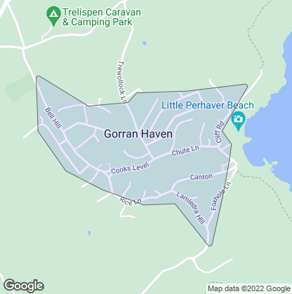 Map of property in Gorran Haven