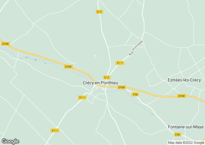 Map for Picardy, Somme, Crécy-en-Ponthieu