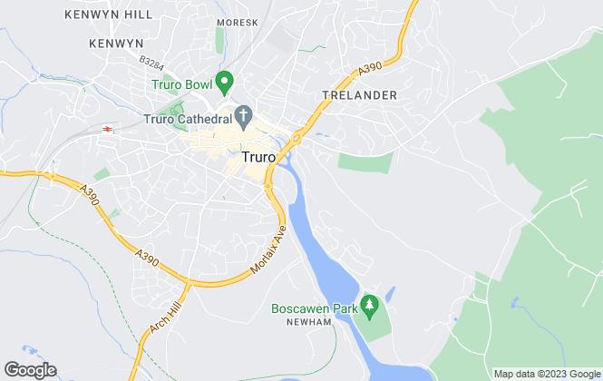 Map for R.I. Estates Limited, Truro