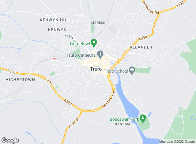Map for Goundrys, Truro