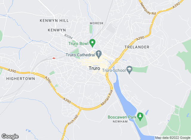 Map for Savills, Truro