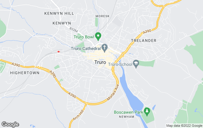 Map for Lewis Haughton Wills , Truro