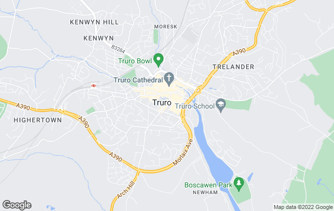 Map for Country & Waterside Prestige, Truro