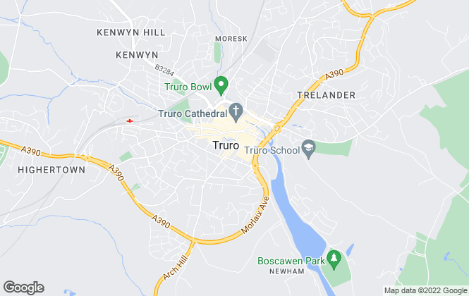 Map for Hus Estate Agents, Truro