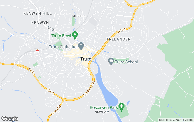 Map for Alder King, Truro