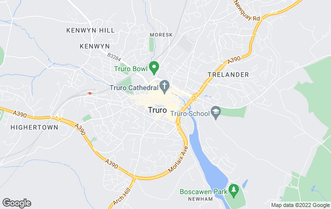 Map for Miller Lettings, Truro