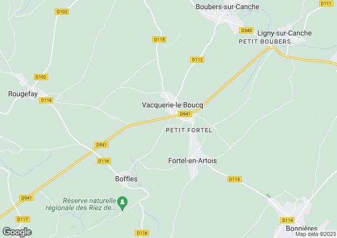 Map for vacquerie-le-boucq, Pas-de-Calais, France