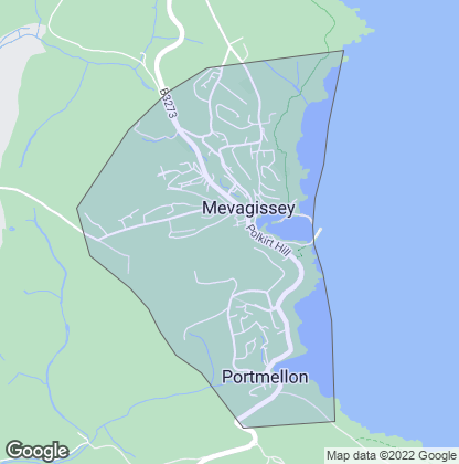 Map of property in Mevagissey