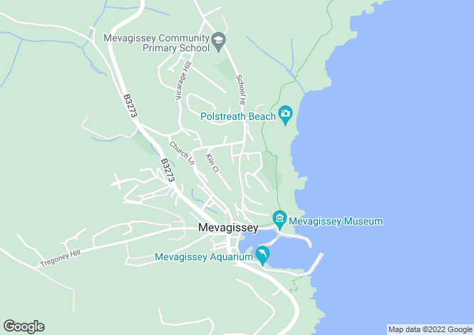 Map for Mevagissey, Nr St Austell, South Cornish Coast