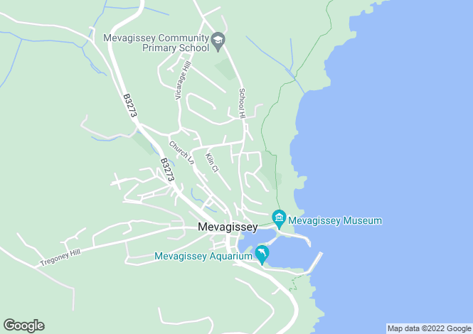 Map for Mevagissey, Cornwall